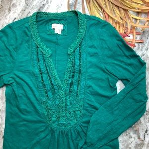 Anthropologie Meadow Rue Ansonia Pullover Green